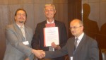 Three signatories of the MoU: Rastislav Rybanic (Slovak Ministry of Environment), Harald Egerer (UNEP Vienna - ISCC) and Lubos Halada (S4C)